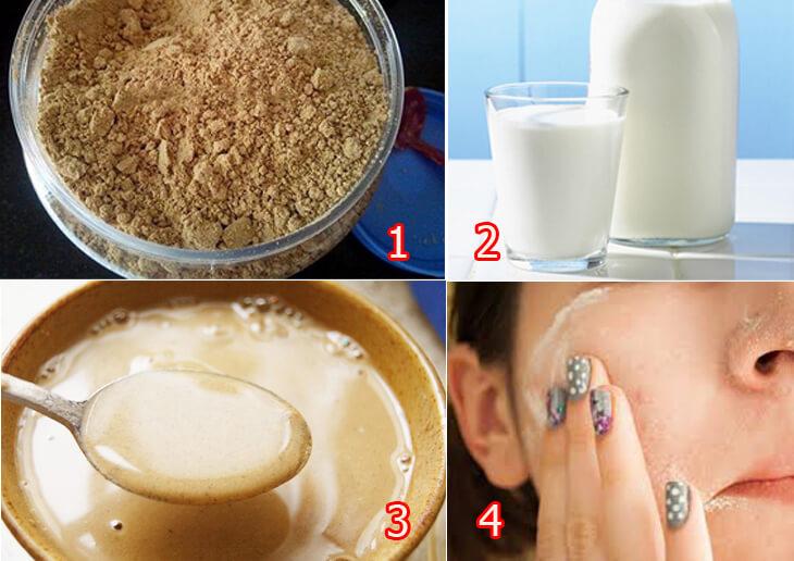 Dùng bột ngũ cốc để rửa mặt